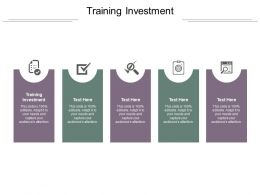 Training Investment Ppt Powerpoint Presentation Layouts Infographic Template Cpb