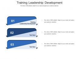 Training Leadership Development Ppt Powerpoint Presentation Infographics Structure Cpb