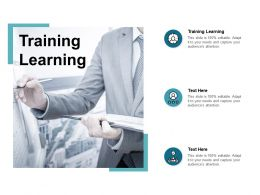 Training Learning Ppt Powerpoint Presentation Infographics Background Cpb