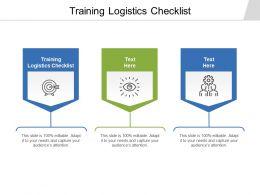 Training Logistics Checklist Ppt Powerpoint Presentation Styles Example Cpb