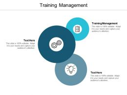 Training Management Ppt Powerpoint Presentation Ideas File Formats Cpb