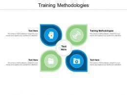 Training Methodologies Ppt Powerpoint Presentation Infographics Infographics Cpb