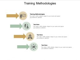 Training Methodologies Ppt Powerpoint Presentation Model Background Designs Cpb