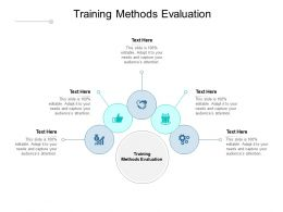 Training Methods Evaluation Ppt Powerpoint Presentation Layouts Design Cpb