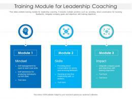 Training Module For Leadership Coaching