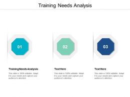 Training Needs Analysis Ppt Powerpoint Presentation Gallery Show Cpb