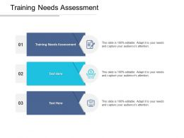 Training Needs Assessment Ppt Powerpoint Presentation Slides Graphics Tutorials Cpb