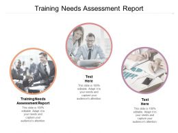 Training Needs Assessment Report Ppt Powerpoint Presentation Ideas Example Cpb
