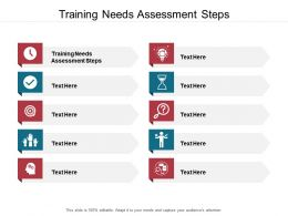 Training Needs Assessment Steps Ppt Powerpoint Presentation Infographic Cpb