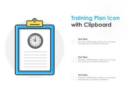 Training Plan Icon With Clipboard