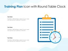 Training Plan Icon With Round Table Clock