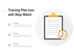 Training Plan Icon With Stop Watch