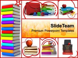 Training Powerpoint Templates Colored Books Education Ppt Theme