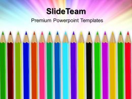 Training Powerpoint Templates Colored Pencils Education Ppt Theme