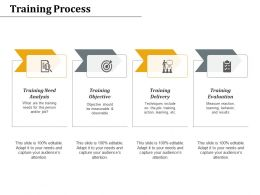 Training Process Delivery Evaluation Ppt Powerpoint Presentation Styles Styles
