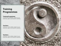 Training Programmes Ppt Powerpoint Presentation Model Topics Cpb