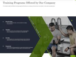 Training Programs Offered By Our Company Ppt Powerpoint Presentation Slides
