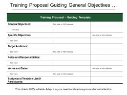 Training Proposal Guiding General Objectives Target Roles And Responsibilities
