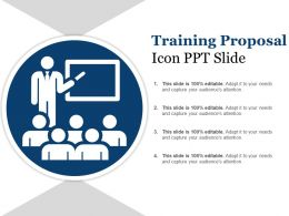 Training Proposal Icons Ppt Slide