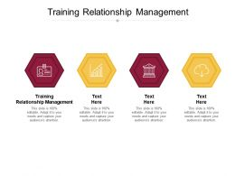 Training Relationship Management Ppt Powerpoint Presentation Professional Picture Cpb