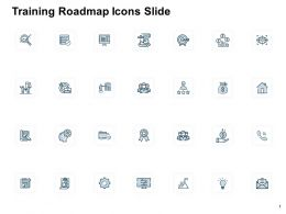 Training Roadmap Icons Slide Pillars Ppt Powerpoint Presentation Professional