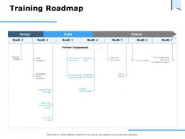 Training Roadmap Partner Engagement Ppt Powerpoint Presentation Styles Inspiration