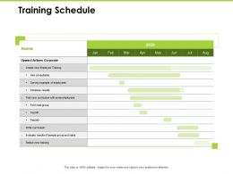 Training Schedule Airlines Corporate Ppt Powerpoint Presentation Tips