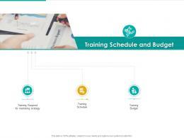 Training Schedule And Budget Strategic Plan Marketing Business Development Ppt Slides Show
