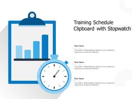 Training Schedule Clipboard With Stopwatch