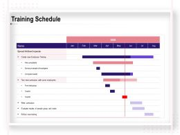 Training Schedule Employees Ppt Powerpoint Presentation Summary