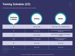Training Schedule Excel Format Ppt Powerpoint Presentation Portfolio