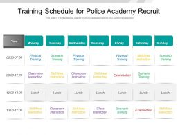 Training Schedule For Police Academy Recruit