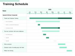Training Schedule Hire Consultants Ppt Powerpoint Presentation Background Designs