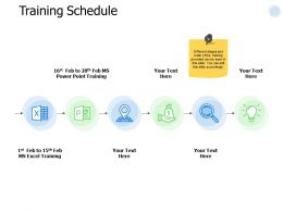 Training Schedule Icons Ppt Powerpoint Presentation Slides Download
