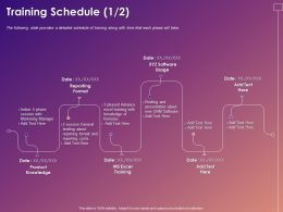 Training Schedule Knowledge Ppt Powerpoint Presentation Inspiration Rules