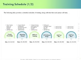 Training Schedule L1850 Ppt Powerpoint Presentation Slides Samples