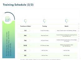 Training Schedule L1851 Ppt Powerpoint Presentation Slides Skills
