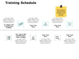 Training Schedule Management Ppt Powerpoint Presentation File Skills