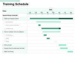 Training Schedule New Training Test Ppt Powerpoint Presentation Show Visuals