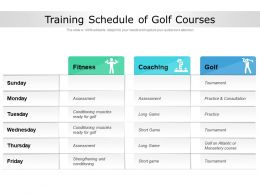 Training Schedule Of Golf Courses