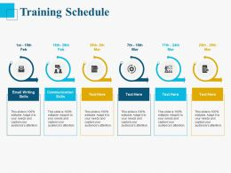 Training Schedule Ppt Powerpoint Presentation Samples