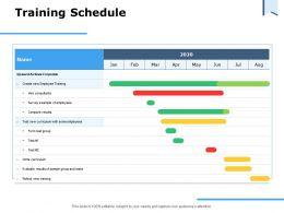 Training Schedule Ppt Powerpoint Presentation Summary Background Designs