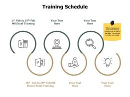 Training Schedule Process J229 Ppt Powerpoint Presentation Gallery Icon