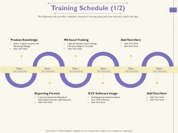Training Schedule Reporting M1753 Ppt Powerpoint Presentation Styles Format Ideas