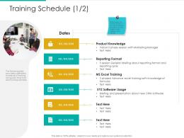 Training Schedule Software Strategic Plan Marketing Business Development Ppt Slides File Formats