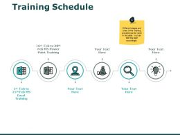Training Schedule Strategy Ppt Powerpoint Presentation Summary Example Topics