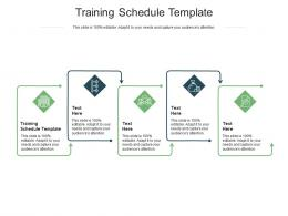 Training Schedule Template Ppt Powerpoint Presentation Infographics Clipart Cpb