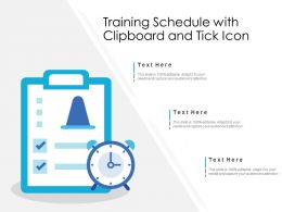 Training Schedule With Clipboard And Tick Icon