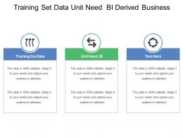 Training Set Data Unit Need Bi Derived Business