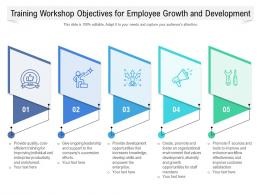Training Workshop Objectives For Employee Growth And Development